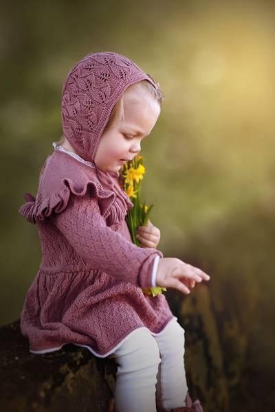 Bilde av Kjole Peppin i merinoull, gammelrosa